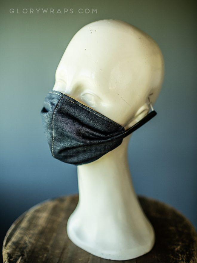 Face Mask with Filter Pocket and Nose Wire