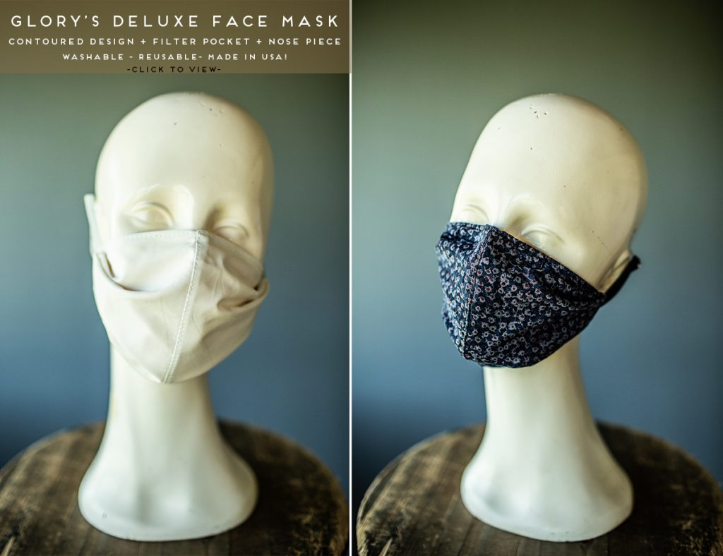 Filter Pocket Face Masks and face coverings for sale Made in usa